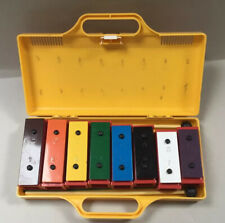 More details for angel 8 note chime bar set/glockenspiel/xylophone metal and plastic in case