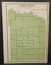 Illinois Christian County Map Mosquito Township c1930 W20#21