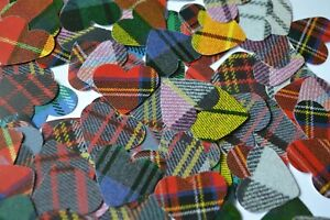 TARTAN HEARTS or BALLOONS Confetti ideal for WEDDING TABLES or any Celebration