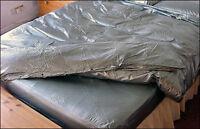 PVC Duvet Cover King Size - Plastic Bedding Shiny PVCuLike