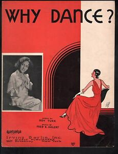 Why Dance 1931 Connie Boswell Sheet Music