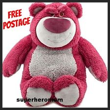 "GENUINE!! TOY STORY DISNEY LOTSO HUGGIN BEAR STRAWBERRY SCENT 30CM 12"" PLUSH NEW"