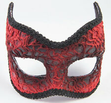 Red Lace Devil Face Mask