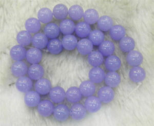 "Purple 8mm Violet Alexandrite Gemstone Round Loose Beads 15"" Strand"