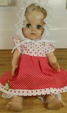 """Vintage Uneeda Rubber/Soft Vinyl Baby Doll 15"""""""