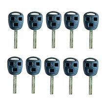 Lot10 Uncut Remote Key Shell fit for Lexus RX/ES330 GX/LX470 3Bts key Case 03-06