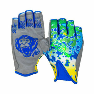 Fish Monkey FM21-DOLP-XL  Pro 365 Guide Glove 1/2 Finger X-Large Dolphin
