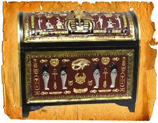 ÄGYPTISCHE ÄGYPTEN TRUHE KISTE MÖBEL DEKO DEKORATION SCHATZ PHARAO FIGUR STATUE