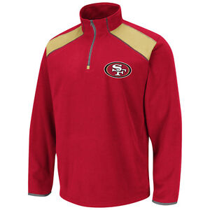 NFL San Francisco 49ers Jacket Sweater Jumper Fade Route 1/4 Zip Micro Fleece