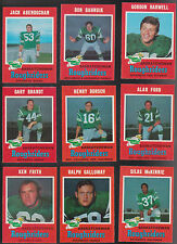 1971 O-PEE-CHEE CFL Team Lot of  9 Saskatchewan ROUGHRIDERS NM OPC