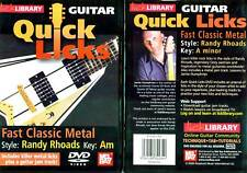 Lick Library - Fast Classic Metal - Randy Rhoads -  DVD