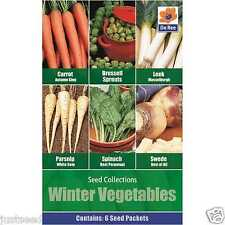 Winter Vegetables 6 type Carrot Leek Spinach Brussels Sprout Swede Parsnip Seed