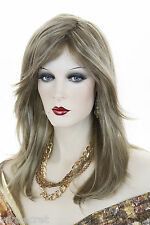 Light Ash Brown  Champagne Blonde Frost Blonde Long Medium Straight Wigs