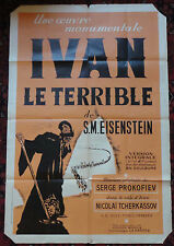 Rare Cinema Poster - Eisenstein's Ivan the Terrible Film with Nikolai Cherkassov