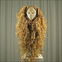 59334) Afrikanische Vuvi Holz Maske Gabun Afrika KUNST