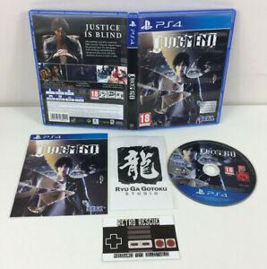 Judgment | PS4 Playstation 4 | Game Boxed Manual CIB Studio Sticker Yakuza