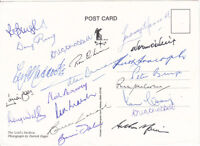 Australia Cricket 4 1948 Invincibles Signed Lord's Card 5 Captains 19 Players