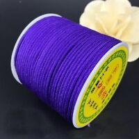 1.5mm x 40M Chinese Knotting Rattail Braided Macrame Nylon DIY Beading Cord Wire