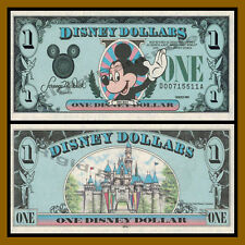 "Disney 1 Dollar, 1989 ""DA"" Series Walt Disney World Uncirculated"