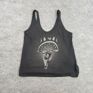 Volcom Womens Shirt Small Tank Top Size Black Graphic Skate Sleeveless Ladies