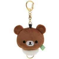 Rilakkuma San-X [New] Plush Reel Key Holder (chairoi koguma) Kawai Japan F/S