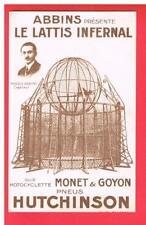 CPA  - CARTE PUBLICITAIRE -  MOTOCYCLETTE  MONET GOYON  - PNEUS HUTCHISON