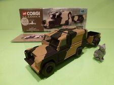 CORGI 07501 LAND ROVER + 2 WHEEL TRAILER - BRITISH ARMY GREEN JACKETS - GCIB