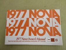 1977 77 Chevrolet Nova owners manual ORIGINAL book guide literature