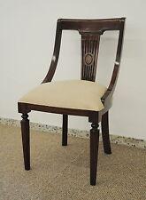 Wunderschöner Stuhl aus massivem Mahagoni handgearbeitet beige / brown walnuss