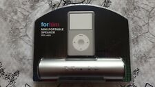 Mini Portable Travel Battery Speaker with Radio for iPod MP3 Mobile Phone Silver