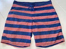 New listing Men's Vineyard Vines Swim Trunks Board Shorts. size 34. Navy/Salmon Stripes.