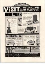 1964 PAPER AD Suprior Plastics Co Yankee Stadium UN Building Lincoln Memorial ++