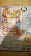"""Dimensions Counted Cross Stitch Framed Birth Record Diy Kit """"Baby Drawers"""""""