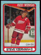 1989 90 OPC O PEE CHEE #J STEVE YZERMAN  BOX BOTTOM NM DETROIT RED WINGS HOCKEY