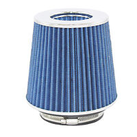 "Blue Univeral Cone Intake Air Filter 6.719"" L x 6"" W Inlet 3"" 3.5"" Or 4"" Medium"