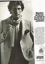 Publicité Advertising 1979 Les Costumes Homme Monsieur de Fursac