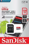 SanDisk 128GB Micro SD SDXC Ultra Memory Card 100MB/s (Class 10) with SD Adapt
