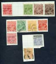 Lot of 11 Australia King George V Collection of Stamps