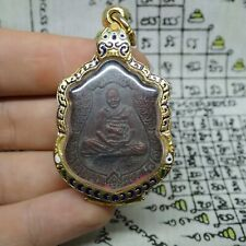 Thai Buddha Amulet Lp Hong Lord Ganesha Brass Coin Ganesh God Amulet Protection
