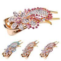 Colorful Hair Flower Women Jewelry Diamond Rhinestones Hairpins Multicolor