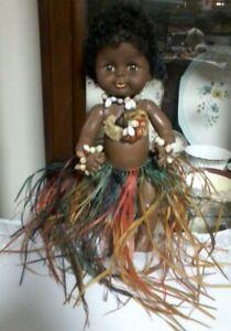 BABY GIRL DOLL - BROWN ISLANDER GIRL 33 CM DOLL