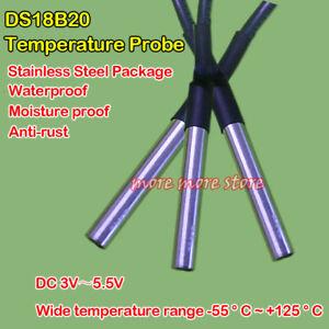 Waterproof Temperature Probe DS18B20 Stainless Steel Package Temperature Sensor