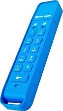 iStorage datAshur 8GB USB 2.0 Flash Stick Pen Memory Drive - Blue