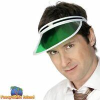 Poker Visor Novelty Golf Poker Casino Men's Fancy Dress Costume