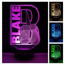 Boxing Gloves Led Night Light Sports Custom Name Remote Color Change