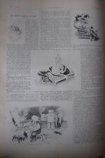 SIAM JOUEURS D ECHECS / FUNERAILLES IMPERATRICE FREDERIC L'ILLUSTRATION de 1901