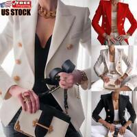 Women's Slim Fit Blazer OL Ladies Jacket Long Sleeve Outwear Suit Casual Coat