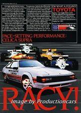 1983 Toyota Supra Grand Prix Race Original Advertisement Print Art Car Ad J691