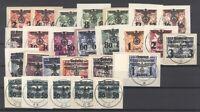Dt. Bes. 2. WK Generalgouverment Mi.Nr. 14-39 auf Briefstücken (25611)