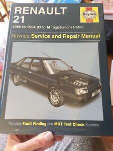 Haynes Owners Workshop Manual Renault 21 Petrol 1986 To 1989 1721 Hardcover